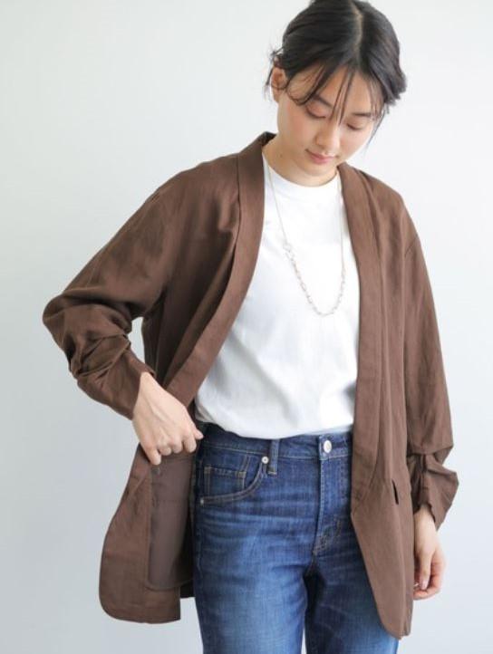 リネンブレンドジャケット